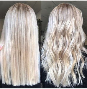 2020 Fashion Ombre Blonde Wigs 100 Human Lace Front Wigs