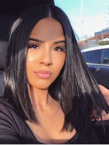 Black Lace Front Straight Wigs Yaki Straight Lace Front Wig