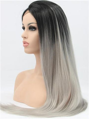 Wigs For White Women 3B Curly Hair White GirlAsh Grey Hair
