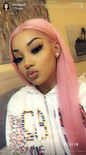Lace Frontal Wigs Pink Hair Adore Pink Blush For Women