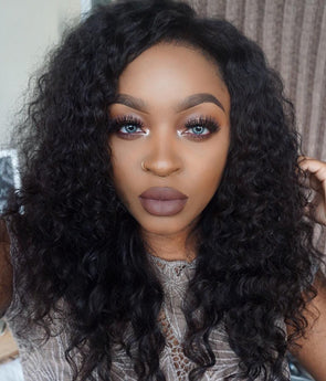 Black Wave Lace Front Wigs 12 Inch Deep Wave Wig