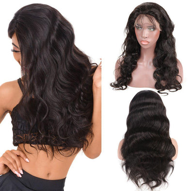 Lace Hair Wigs Lace Front Wigs Body Wave Real Black Hair Wigs 180% Density Lace Frontal Wigs