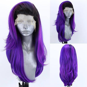 Violet Wig Curly Hair Lace Front Wig Lace Wig Cosplay Wig Long Curly Wig Party Wig Lady Wig Heat Resistant Wig