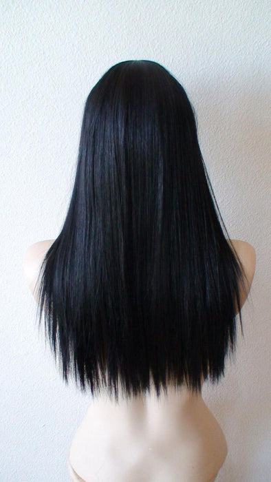 Lace Front Hair Wigs Long wavy black wig