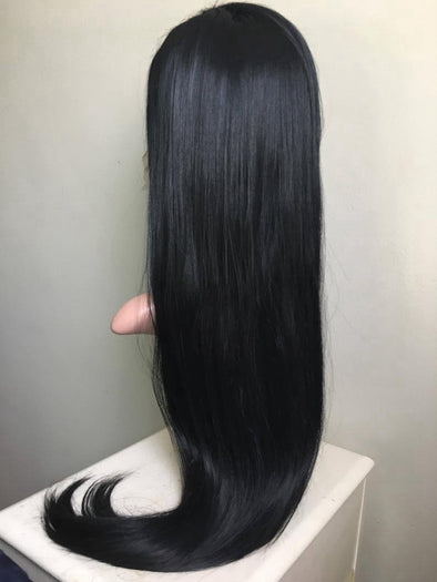 Lace Front Hair Wigs dark blue ombre wig