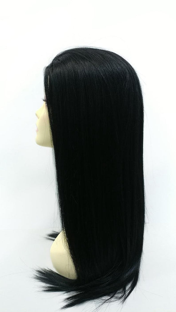 Lace Front Hair Wigs black wig middle part