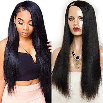 Lace Front Hair Wigs black wig with red highlights