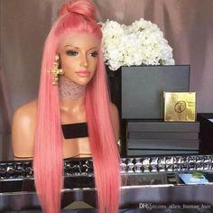 bubblegum pink wig pastel pink curly wig  short pink bob wig lace front pink