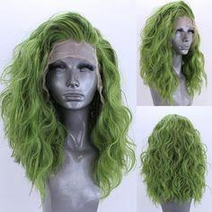 Lace Front wig green and yellow hair short green wig male green wig medium green hair dark green and purple hair blue and green short hair hayley williams green hair
