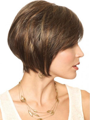 Brown Short Hair Bob Straight Wig Human Hair Lace Front Wigs For Women Natural Wig