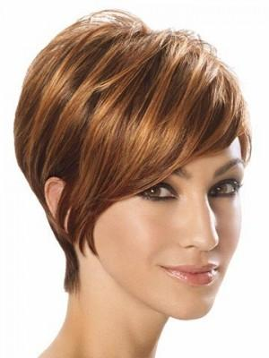 Brown Short Wig Bob Straight Wig Human Hair Lace Front Wigs For Women Natural Wig