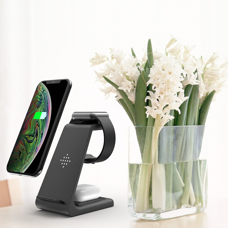 The Rax - 3 in 1 Wireless Charger Stand Holder