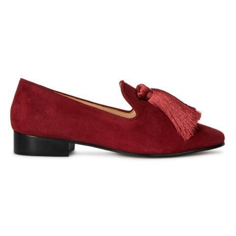 Jeaninne 2 Loafer Flat - Red Brown Suede