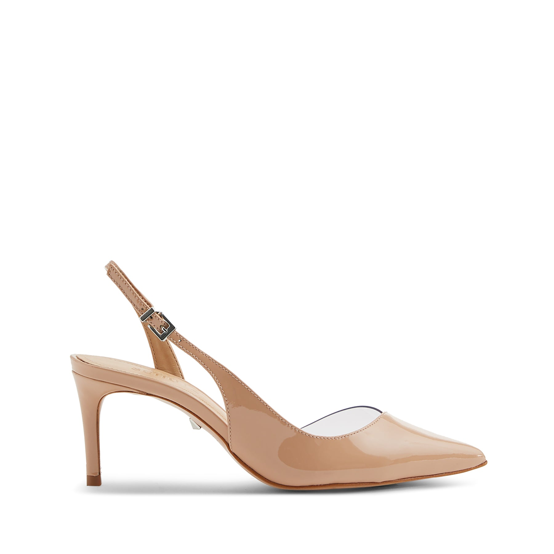 Anabel Slingback Pumps Honey Beige Patent Leather