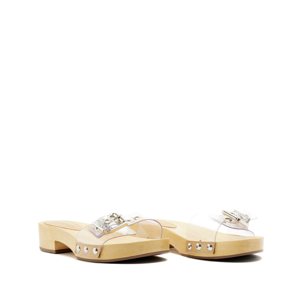 Apolonia Slide Sandal in New Cream
