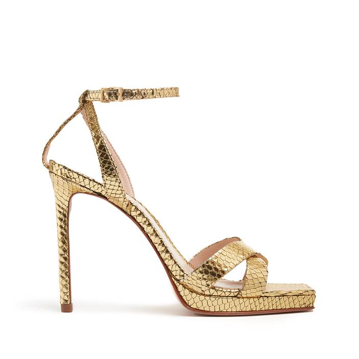 Ava Rose Sandal in Ouro Gold