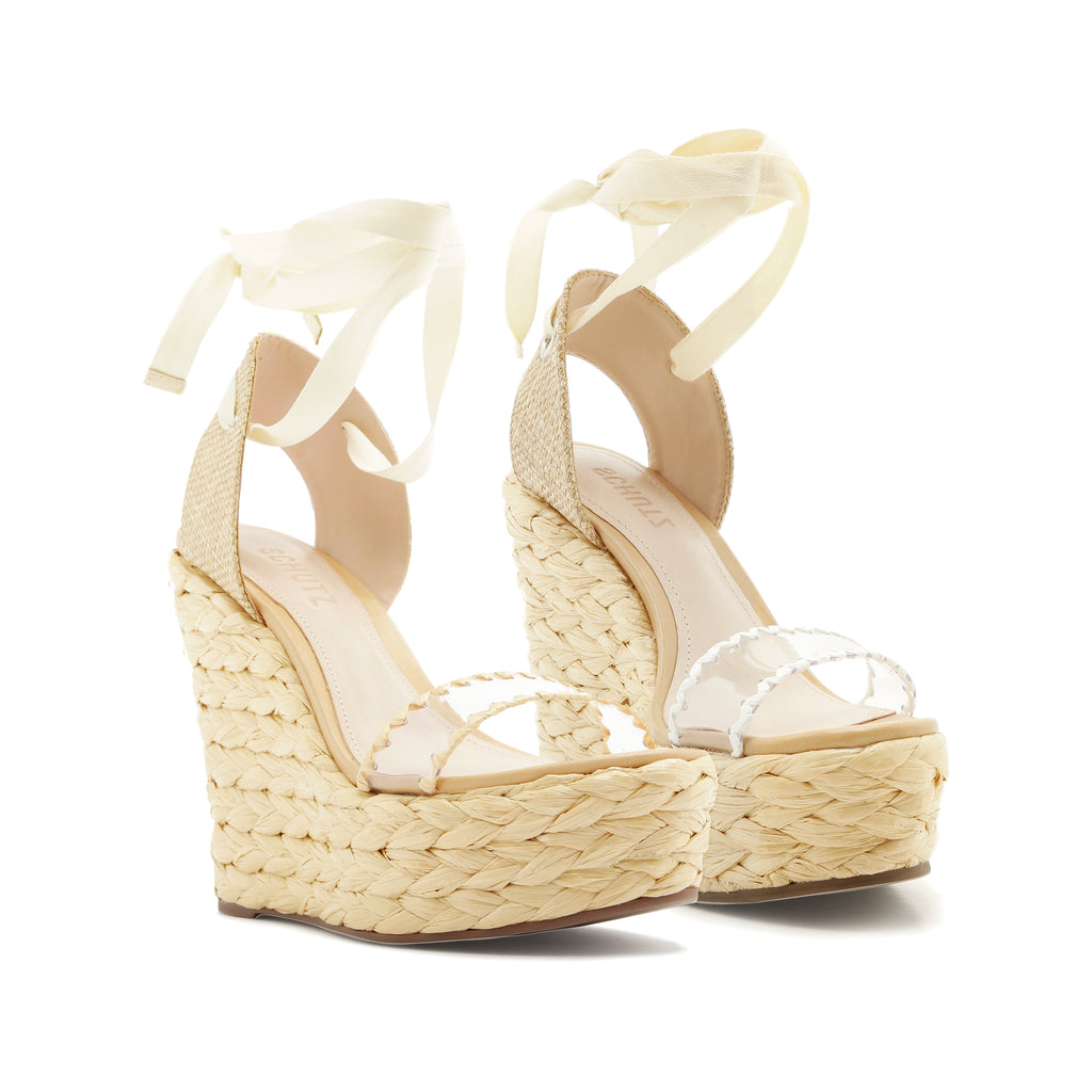 Ayama Wedge Sandal in Natural