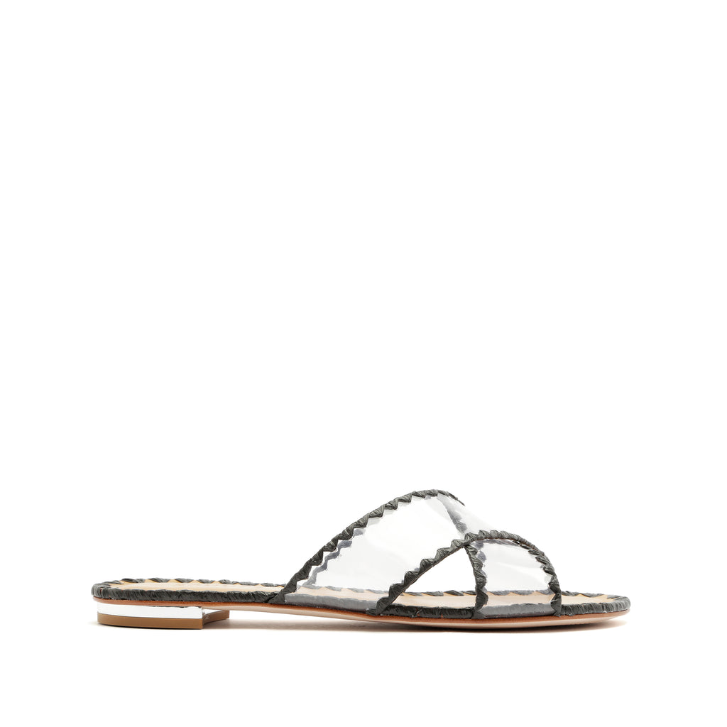 Aya Slide Sandal in Black