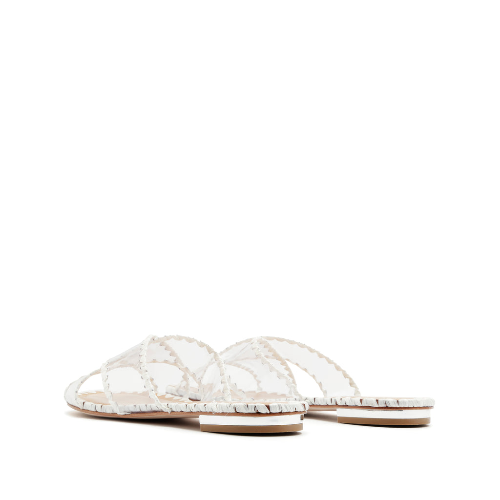 Aya Slide Sandal in White