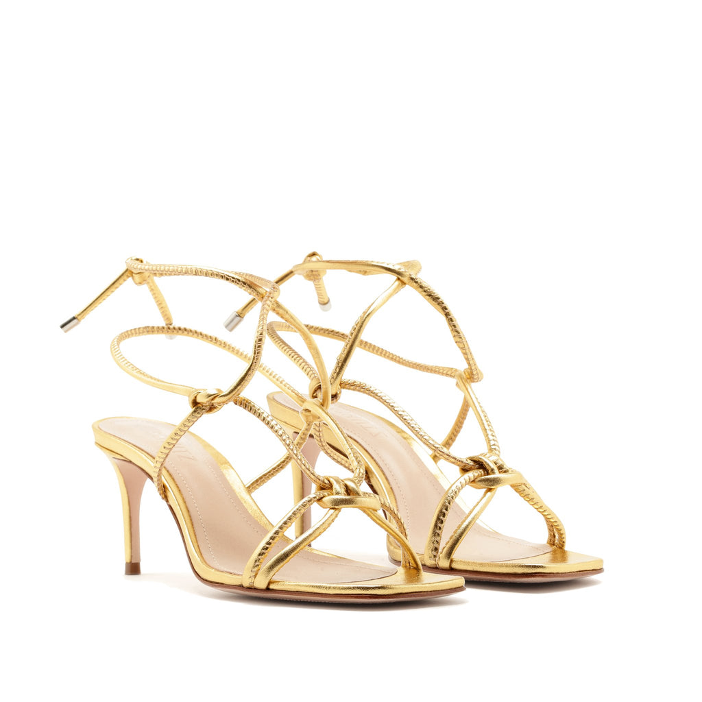 Belize Sandal in Ouro Gold