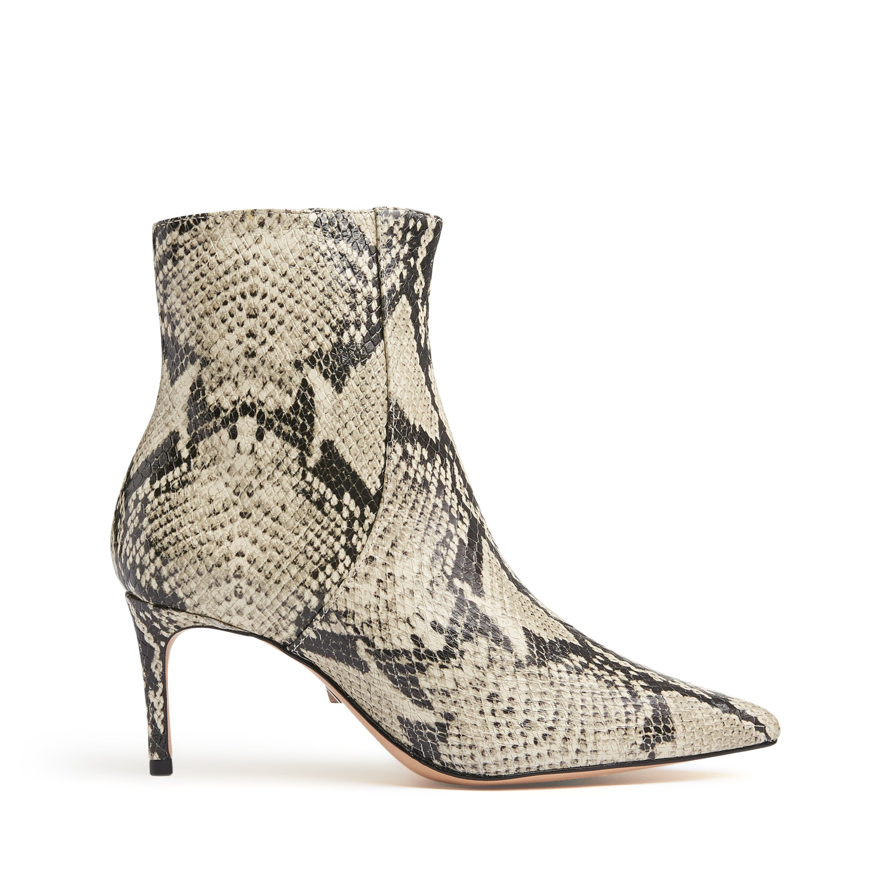 Bette Booties Natural Snake Snake Embossed Leather