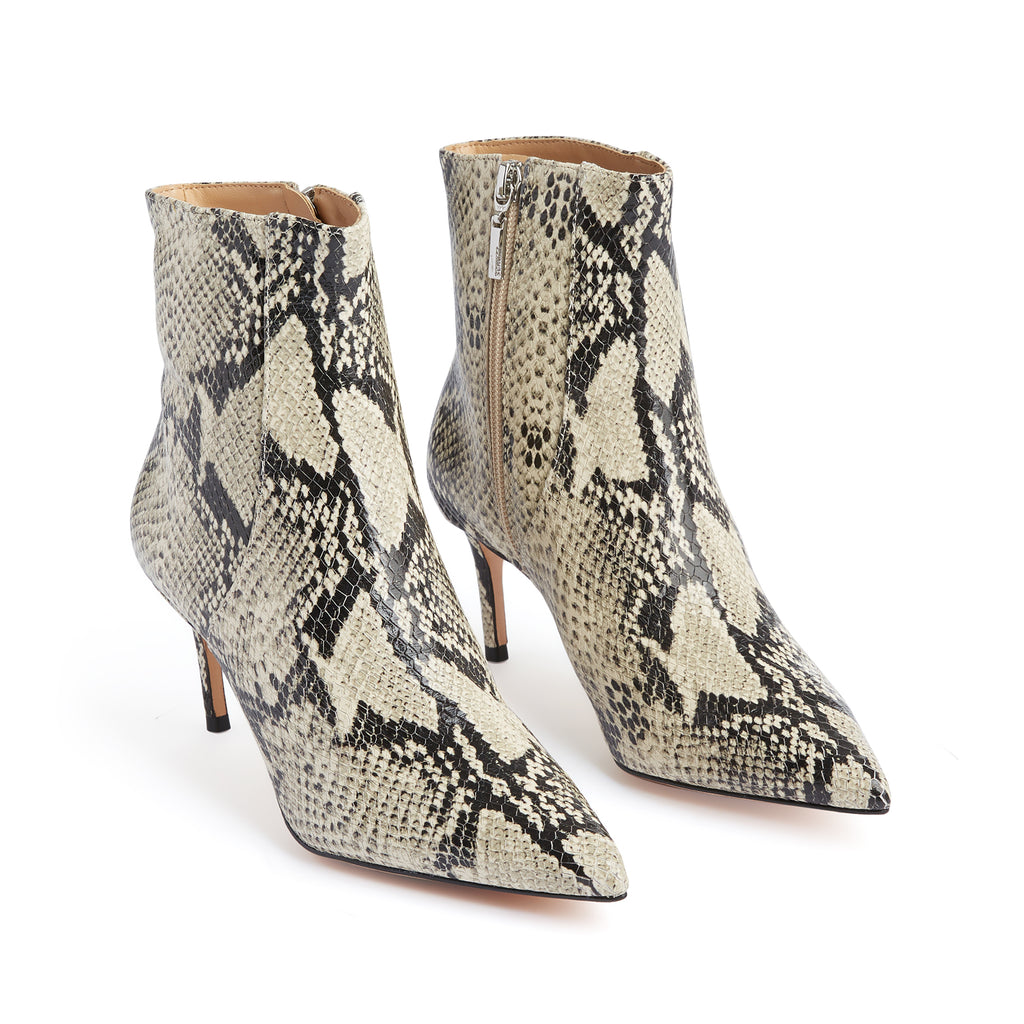 Bette Ankle Bootie in Snake Print