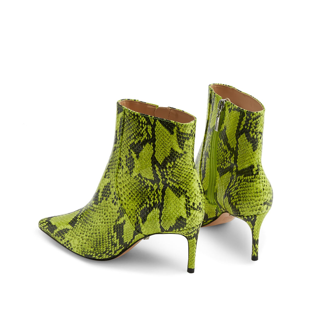 Bette Boot in Neon Yellow Snake