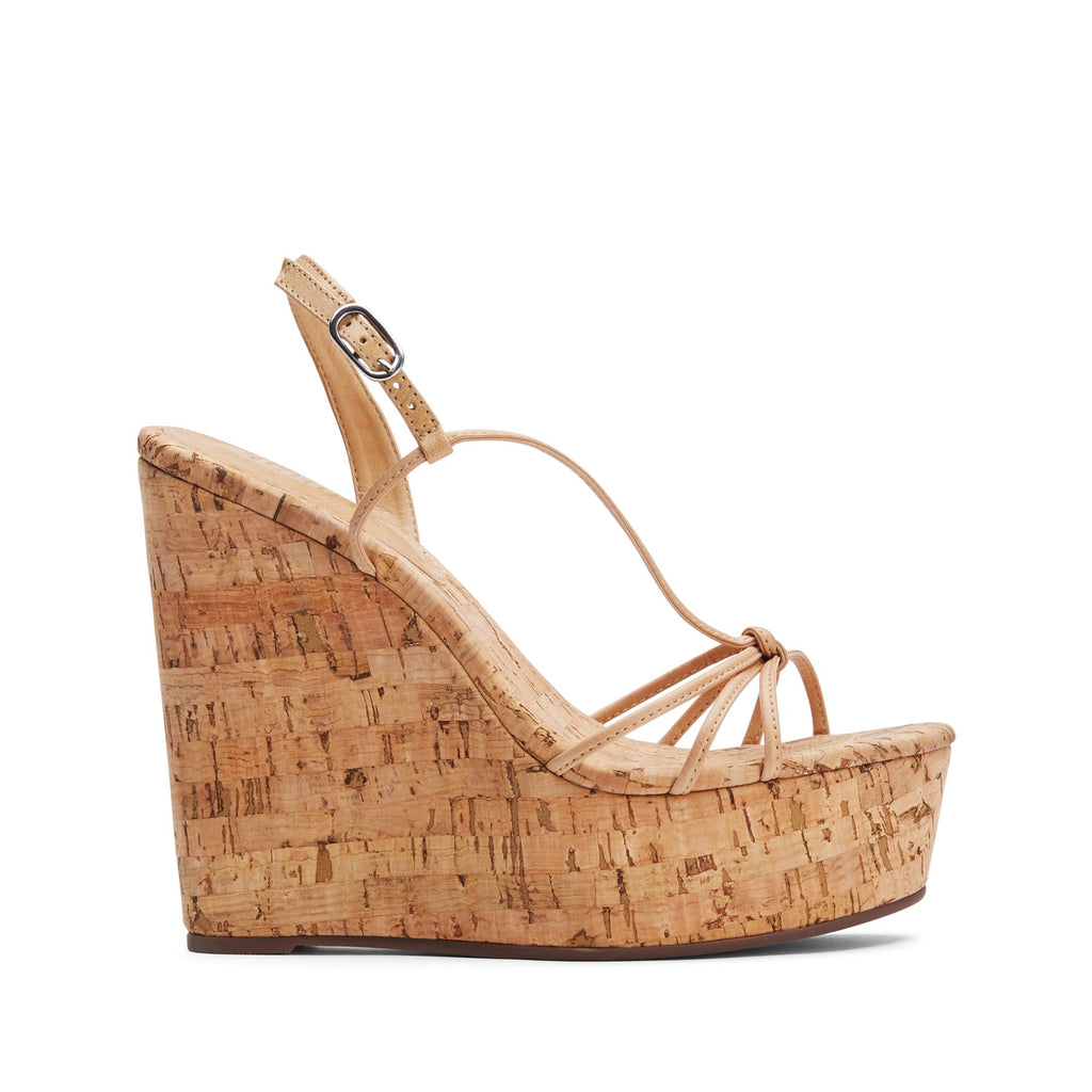 Cassia Wedge Sandal in Lightwood