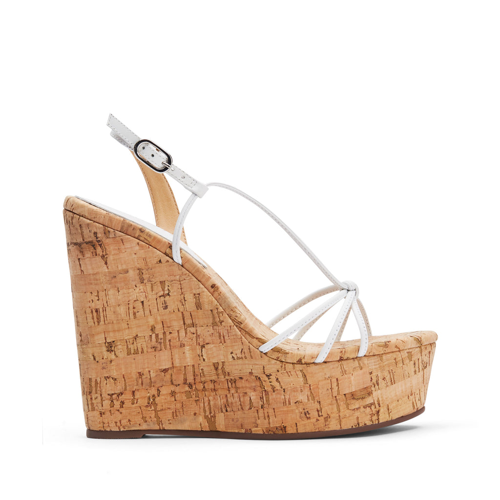 Cassia Wedge Sandal in White