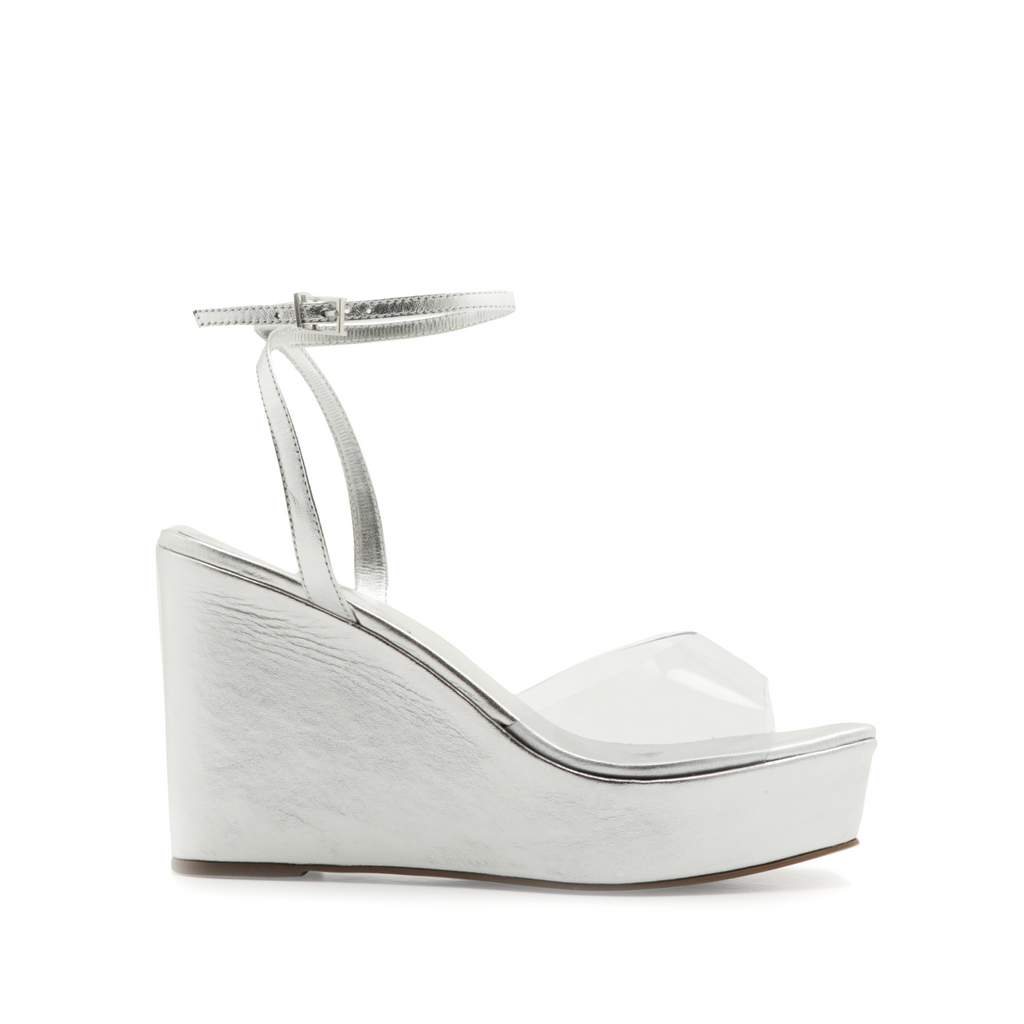 Divany Wedge Sandal in Silver