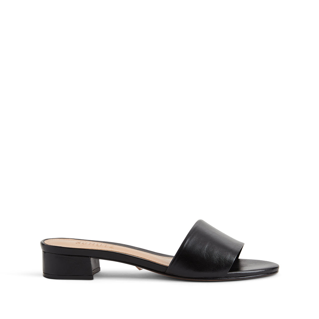 Elke Slide Sandal in Black