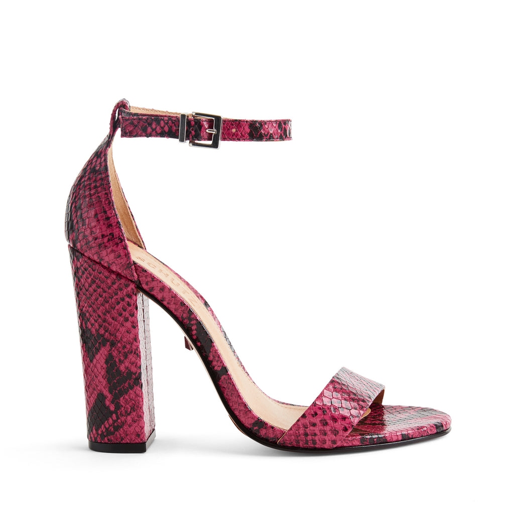 Enida Sandal in True Pink Snake Multi