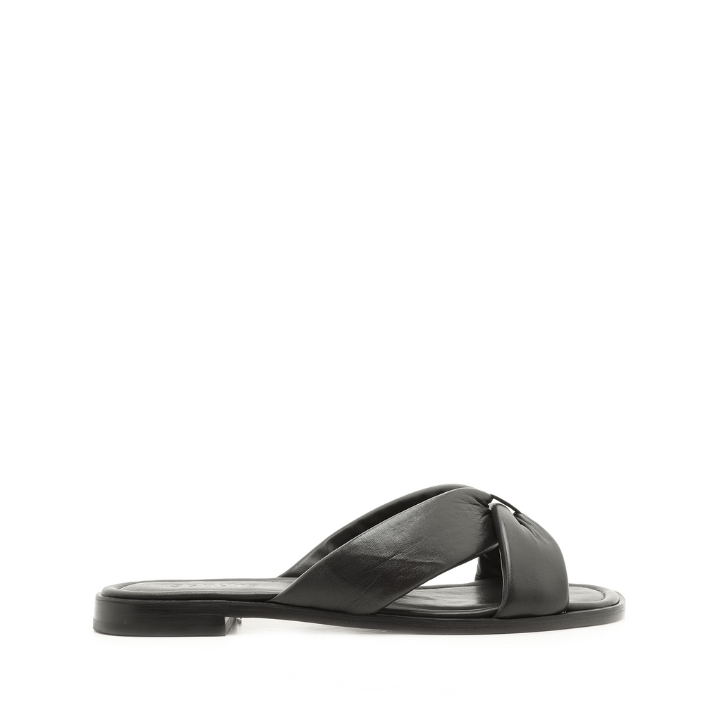 Fairy Flat Sandal in Black