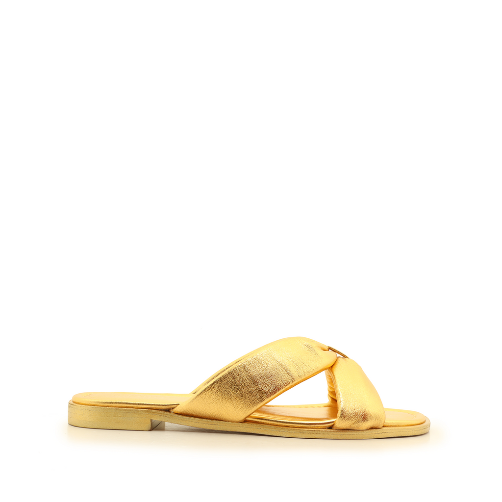 Fairy Flat Sandal in Ouro Gold