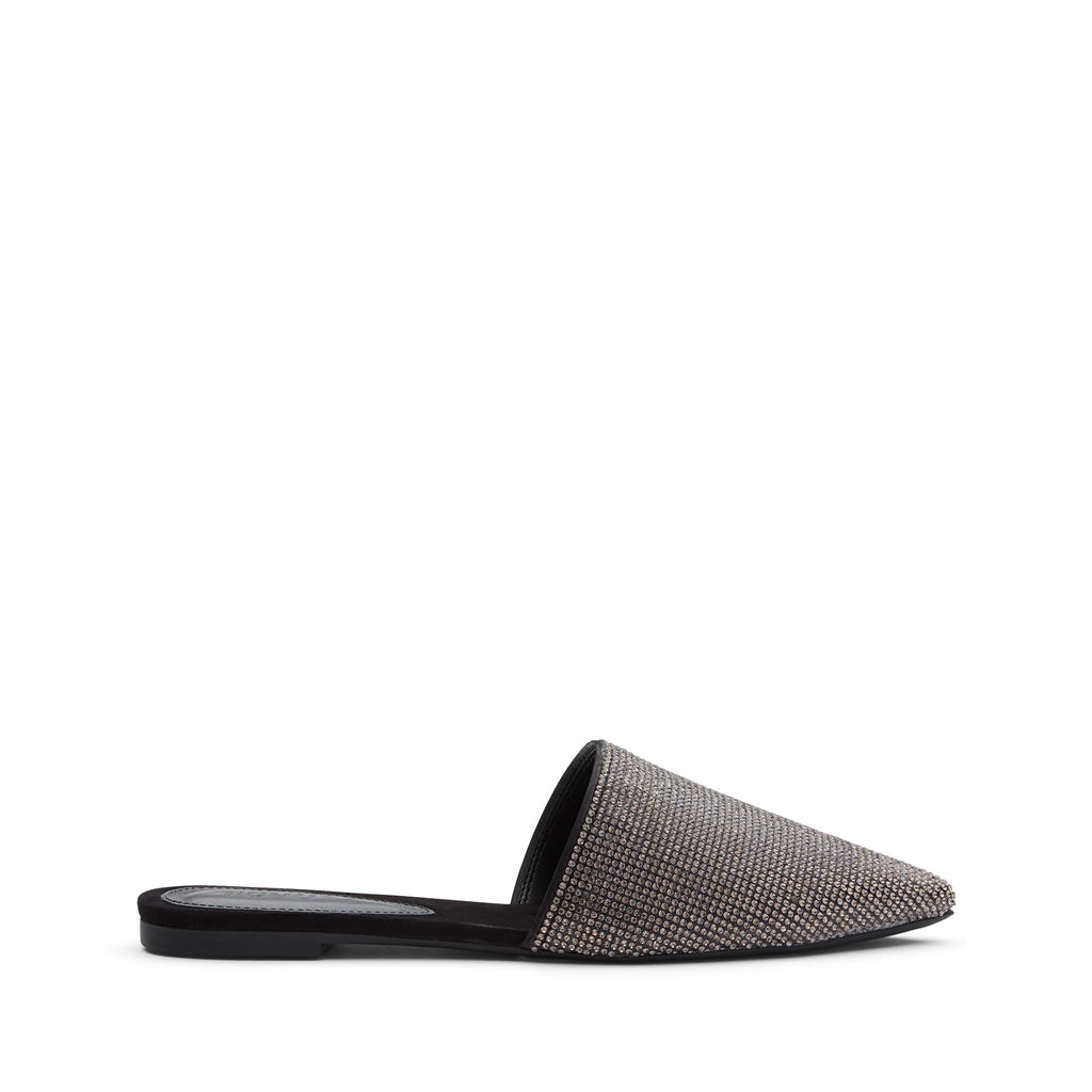 Felicie Flat Mule in Black