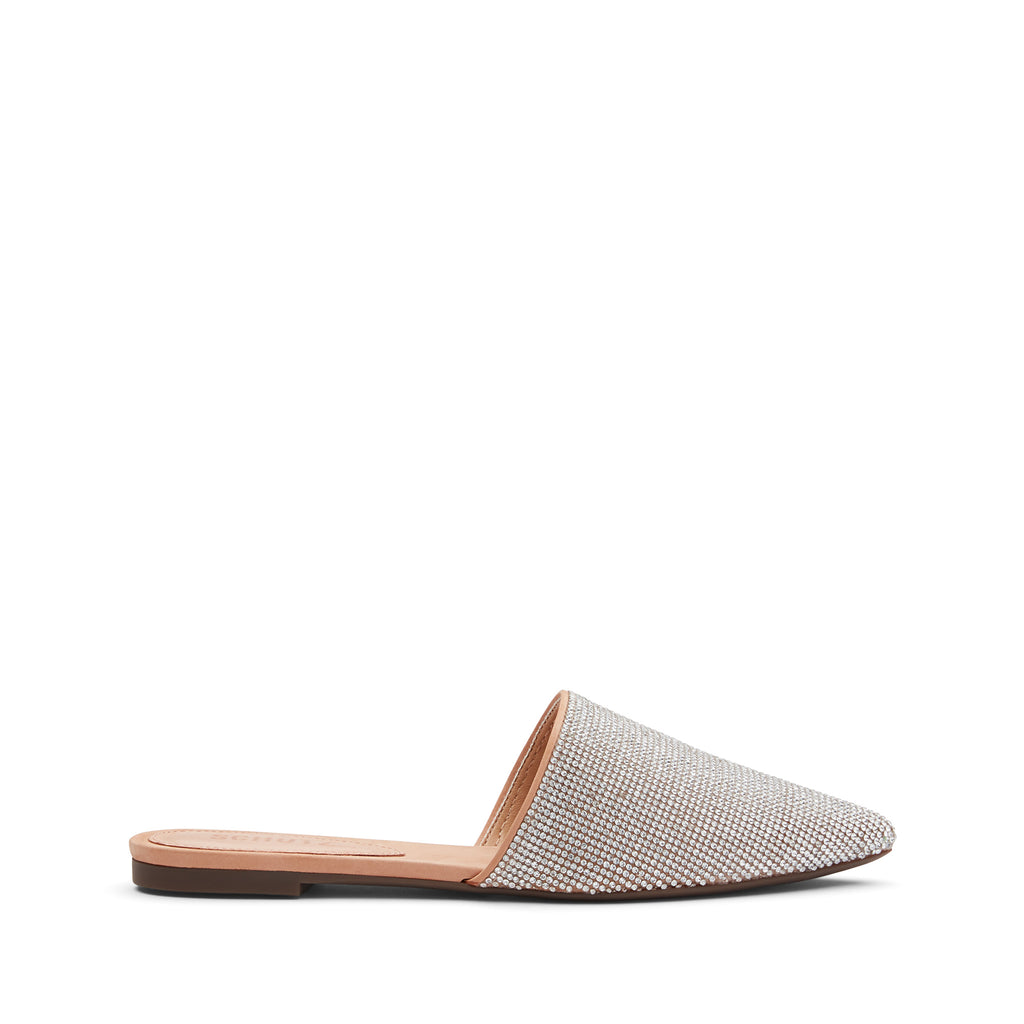 Felicie Flat Mule in Honey Beige