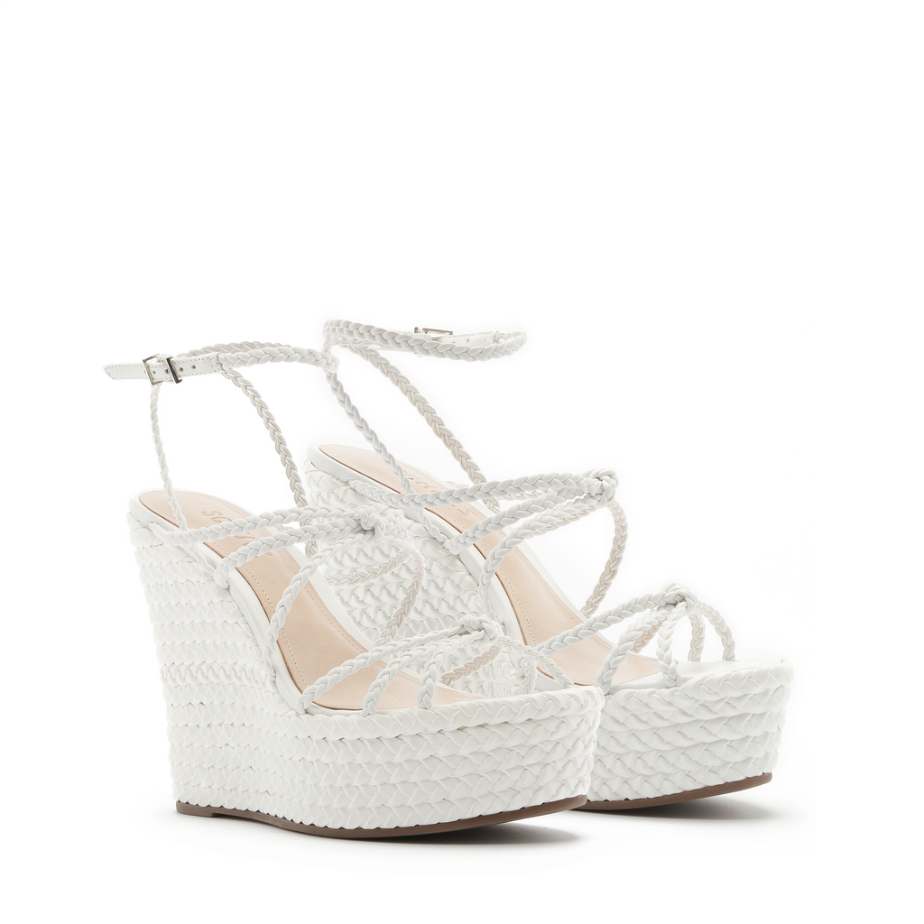 Flassie Wedge Sandal in White