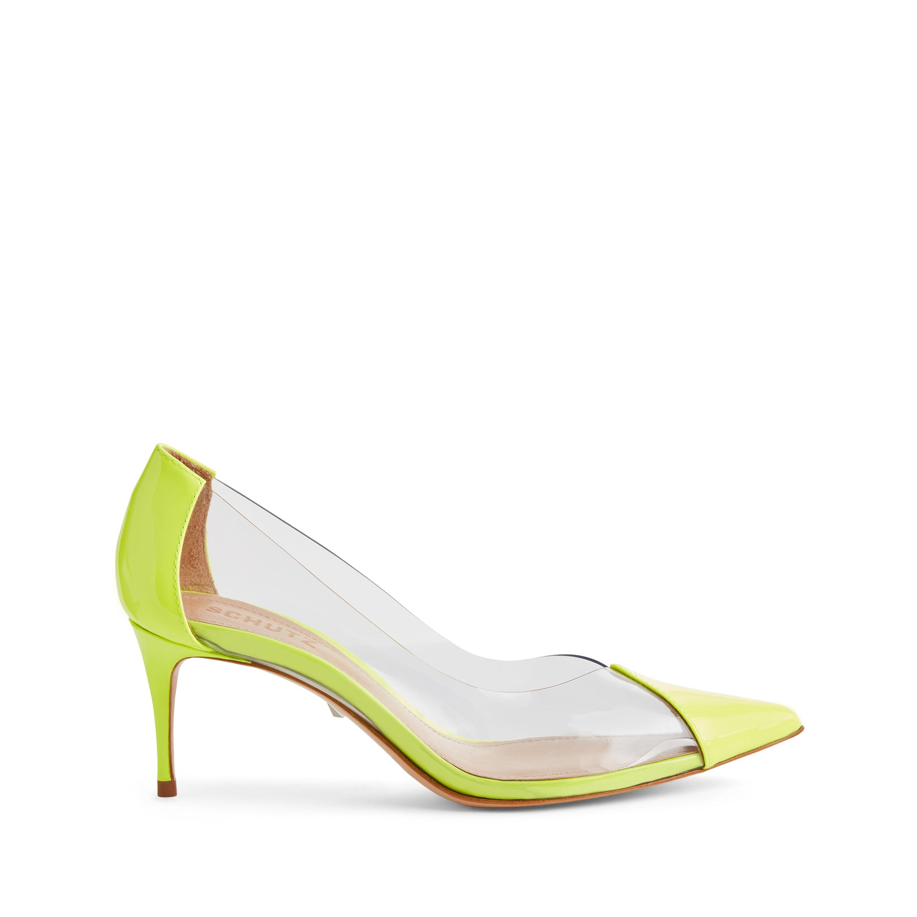 Garthy Pumps - Neon Yellow Patent Leather & Vinyl