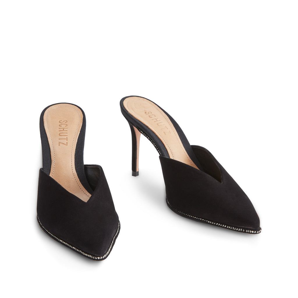 Heliconia Mule in Black
