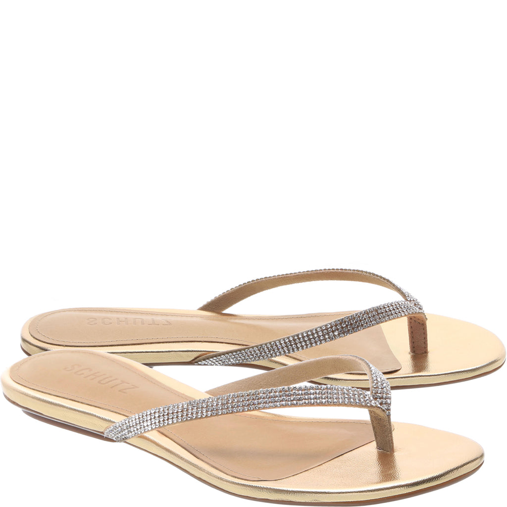 Hilde Flat Sandal in Amber Light