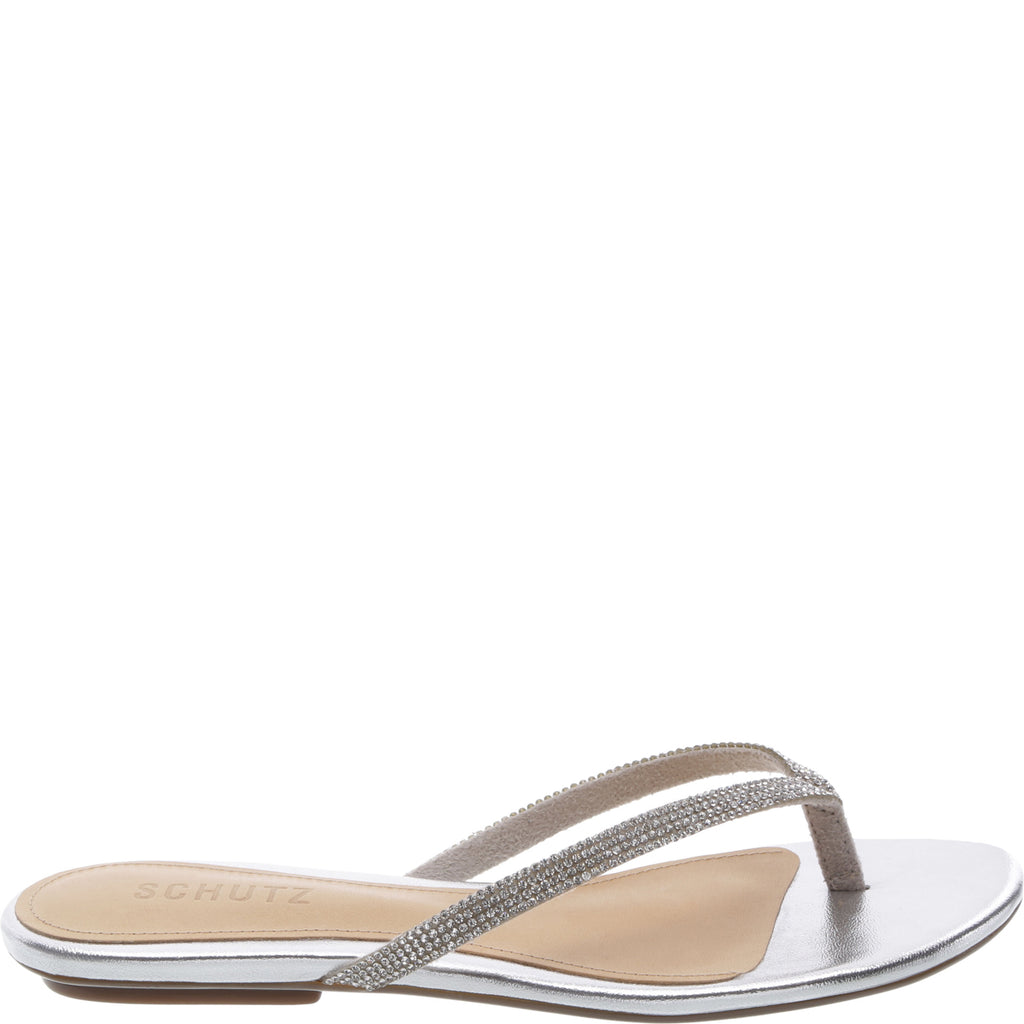 Hilde Flat Sandal in Ciment
