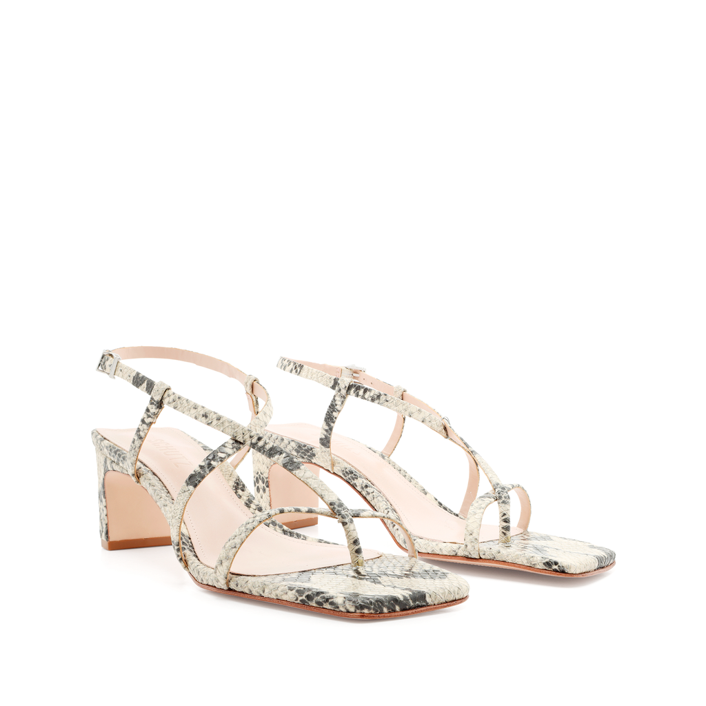 Kagenia Sandal in Natural Snake