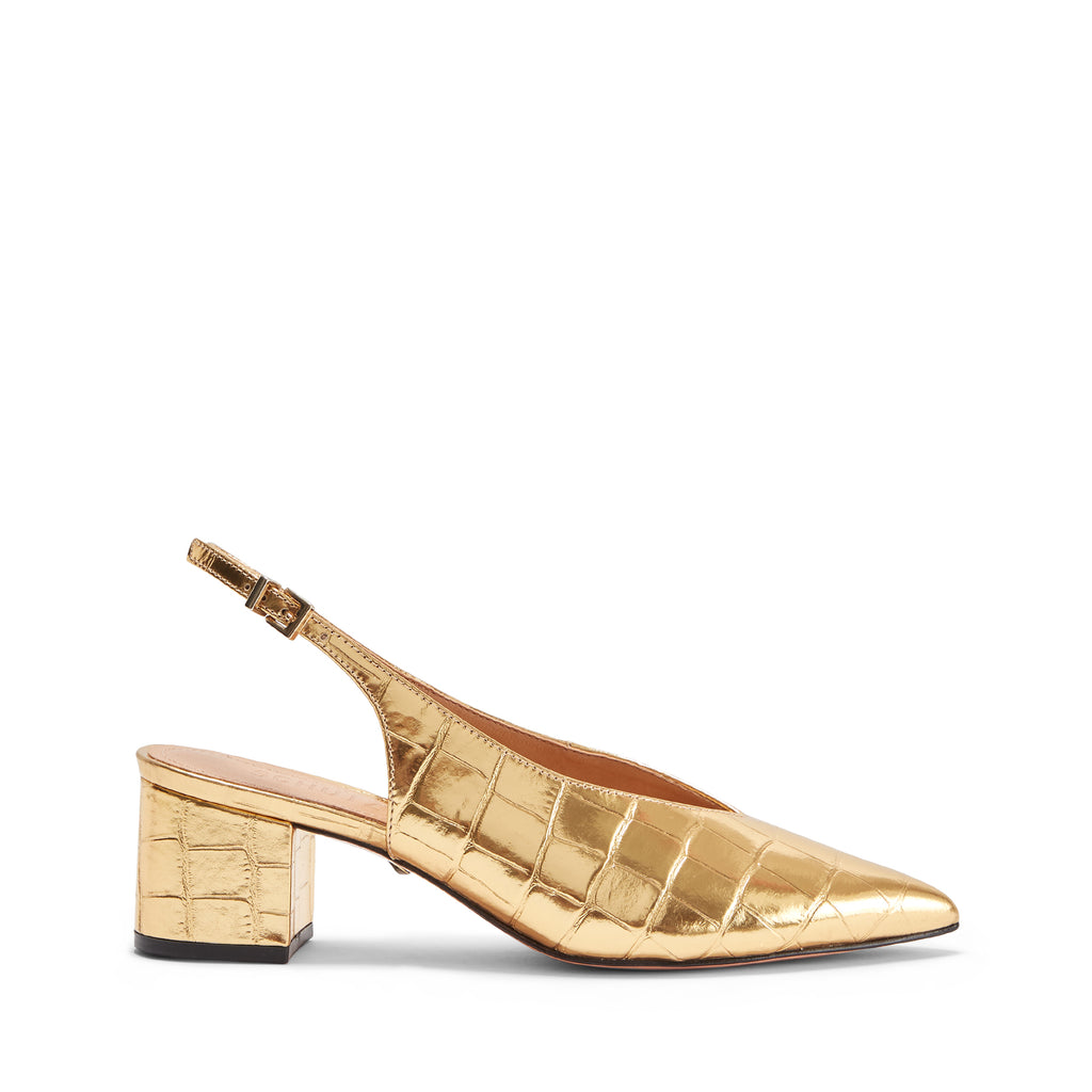 Kamila Slingback Pump in Ouro Gold