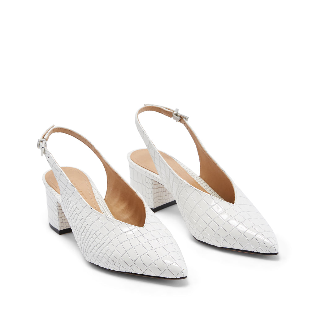 Kamila Slingback Pump in White