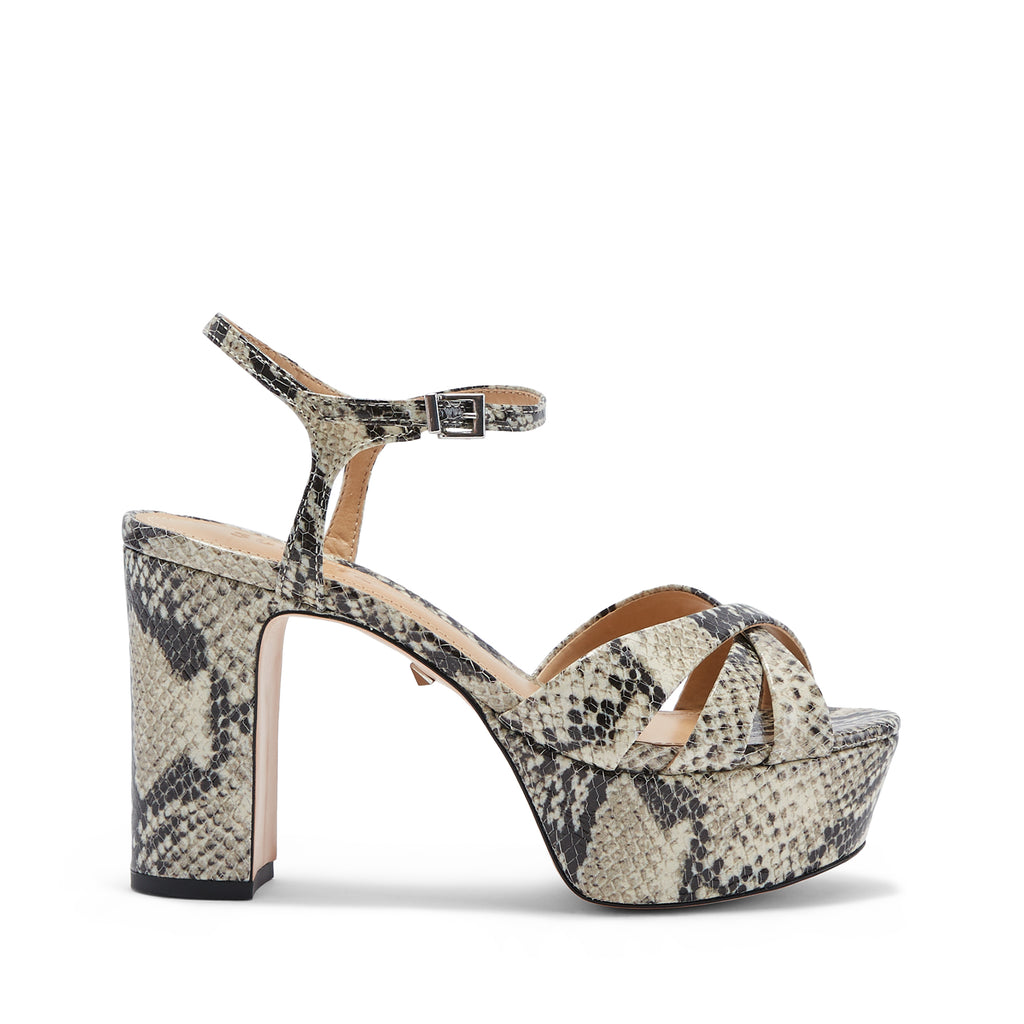 Keefa Sandal in Natural Snake