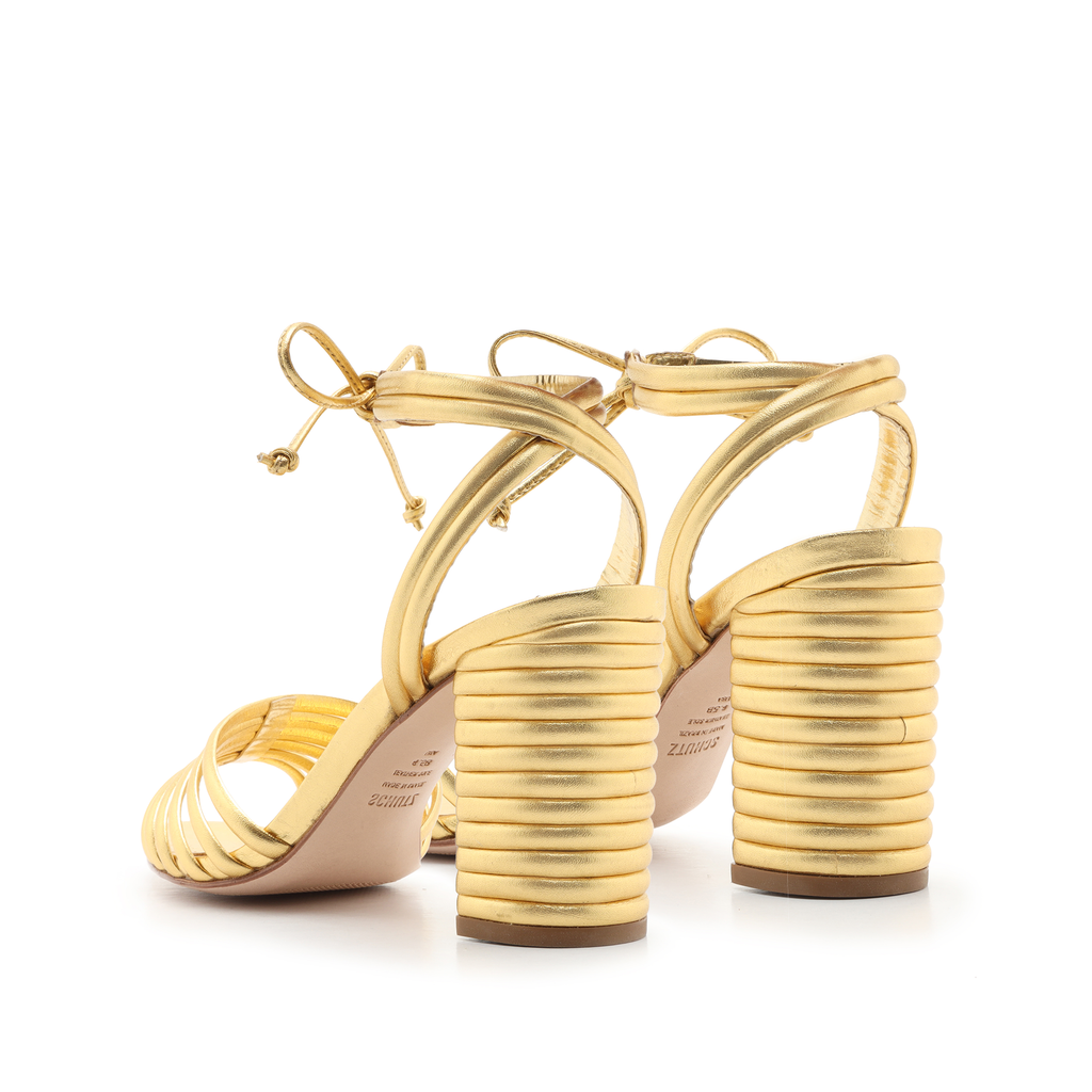 Lanna Sandal in Ouro Gold