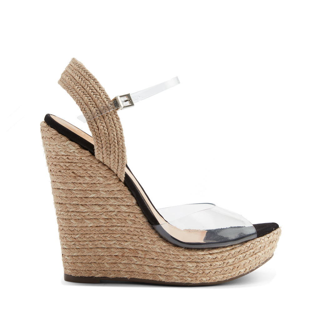 Lutieres Wedge Sandal in Clear