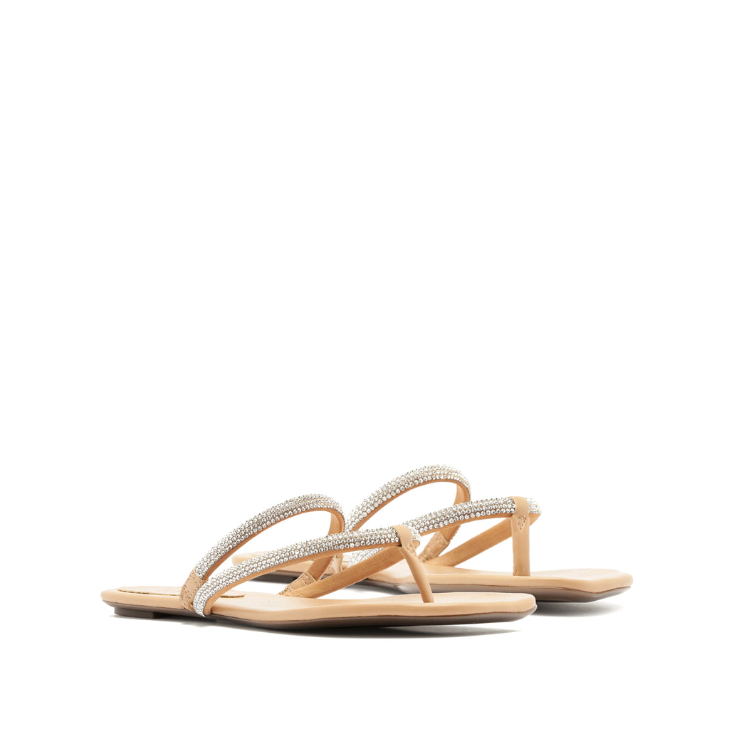 Marileide Flat Sandal in Honey Beige