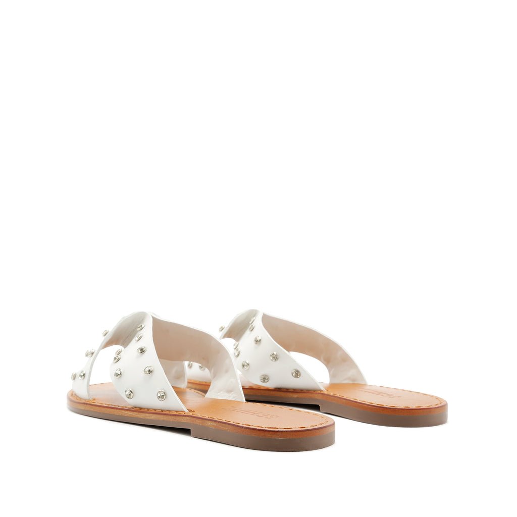 Marilu Flat Sandal in White