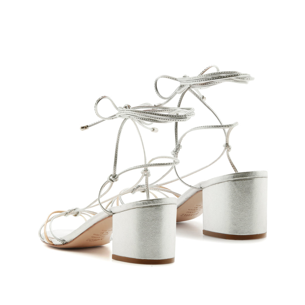 Mary Sandal in Prata Silver